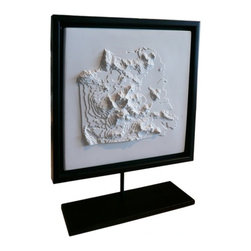 ecofirstart - San Francisco Terrain - Visit a place beyond imagination — that also happens to be the topography of San Francisco. This relief map created of gypsum tile brings creative textural terrain to you decor, sure to spark lively conversation wherever you place it.