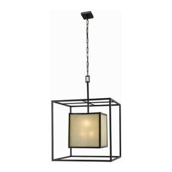 World Imports - World Imports WI4113 Eight Light Chandelier from the Hilden Collection - Requires 8 - 60w Medium Base Bulb(Not Included)Tea stained glass