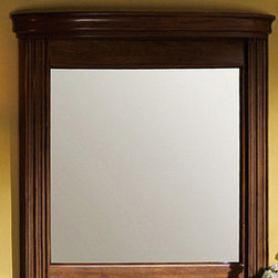 """Legion Furniture - 30"""" Vanity Mirror in Light Walnut - Features: -Vanity mirror. Specifications: -Manufacturer provides one year warranty on parts. -Overall dimensions : 33"""" H x 30"""" W x 5.5"""" D."""