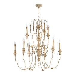 Cyan Design - Maison Nine Light Chandelier - Maison nine light chandelier - persian white