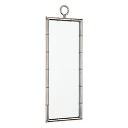 Robert Abbey - Jonathan Adler Meurice Mirror - A reflection of your good taste, this elongated mirror adds visual drama to a room. A polished finish and fitted pieces give it a contemporary edge.