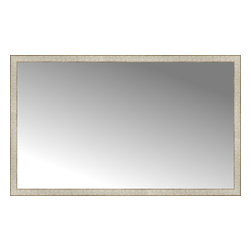 "Posters 2 Prints, LLC - 64"" x 39"" Libretto Antique Silver Custom Framed Mirror - 64"" x 39"" Custom Framed Mirror made by Posters 2 Prints. Standard glass with unrivaled selection of crafted mirror frames.  Protected with category II safety backing to keep glass fragments together should the mirror be accidentally broken.  Safe arrival guaranteed.  Made in the United States of America"