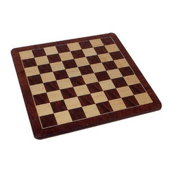 Wood Expressions - Solid Walnut Chess Board Brown - 06-6320 - Shop for Clocks from Hayneedle.com! This board is perfect for advanced and beginner players. The three available sizes make it easy to learn to play the game for the first time or fine tune your sharp skills. The board is crafted from solid walnut wood and every other square is colored dark brown and natural. To finish off the professional look the inlaid border is dark brown with rounded corners. You will enjoy the look of this board as much as you enjoy beating your opponents on it!