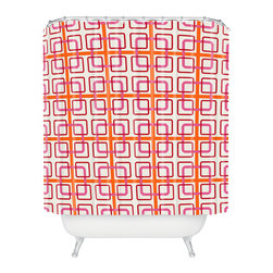 DENY Designs - Caroline Okun Miami Knot Shower Curtain - Who says bathrooms can't be fun? To get the most bang for your buck, start with an artistic, inventive shower curtain. We've got endless options that will really make your bathroom pop. Heck, your guests may start spending a little extra time in there because of it!