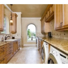 Hiding front loaded washer & dryer in kitchen