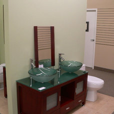 contemporary bathroom vanities and sink consoles by The Home Store