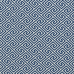 Schumacher - St Tropez Fabric, Navy - 2 Yard Minimum Order
