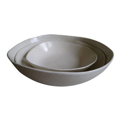 Nesting Serving Bowls - Set of 3 - This is the most versatile set of serving bowls. They look fabulous stacked and nest to take up almost no cabinet space. But then, pull these out, and they can handle serving the entire dinner party!