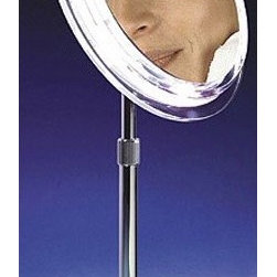 Zadro Makeup Mirror With Pedestal In Chrome This