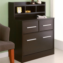 Furniture of America - Furniture of America Hotchner Multi-storage File Cabinet Work Station,Cappuccino - The Hotchner work station is the perfect addition to any home or office,which features a multi-storage hutch,with two in one file cabinet,and accessorized with eye-catching metal hardware pulls,and storage that runs smoothly on metal glides.