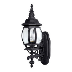 Capital Lighting - Capital Lighting 9867BK French Country Black Outdoor Wall Sconce - Capital Lighting 9867BK French Country Black Outdoor Wall Sconce