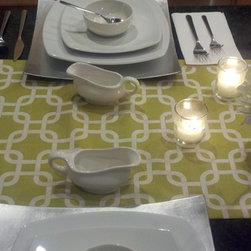 Geo Citrine Table Runner - Elegant, modern piece, it will surely be a focal point on your dining table, kitchen or mantel.