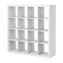 Expedit Bookcase | IKEA - This bookshelf does it all. Use the Expedit as a room divider, closet organizer, or, you know, for housing a collection of books. The cubbies are also the perfect size for storing vinyl records.
