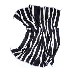 Kuba Stripe Blanket, Black/White - Dressed in this simple, classic, black and white striped blanket, your bed will become the focal point of your boudoir.