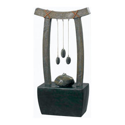 Kenroy Home - Kenroy Home 50326 Indoor Table Fountain Montra Collection - Kenroy Home 50326 Transitional Indoor Table Fountain from the Montra CollectionHere's a word worth repeating - Relax....while pebbles sway gently, suspended over a stone look bubbler, framed in a graceful Asian arch.  Perfect for 'OM or office.Specifications: