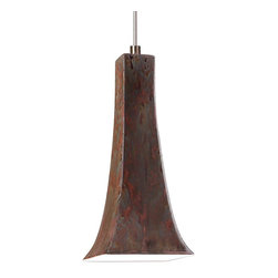 A19 Lighting - Eiffel Modern Downlight Mini Pendant, Rainforest Without Canopy - Like The Tower That Inspired Its Name, A19'S Eiffel Mini Pendant Starts With A Slim Square That Sweeps Open At The Bottom, Somehow Geometric And Organic At The Same Time. The Beautiful Black Gloss Glaze Is Further Enhanced By A Raised Pattern Of Dots Adding To The Otherwise Small Simple Fixture. The Hang Straight Sleeve Slides Over The Coaxial Cord Creating A Refined Aesthetic And The Opaque Ceramic Shade Blocks Glare While Providing Generous Energy Efficient Down-Lighting.Height:9