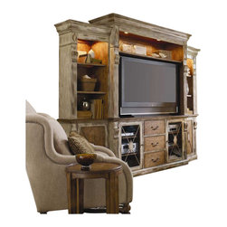 Hooker Furniture - Hooker Furniture Sanctuary Home Theater Group in Dune and Beach - Hooker Furniture - Entertainment Centers - 300270222 - Pursue serenity at home_�_Create your own personal sanctuary a special place where you can experience_�_comfort within.