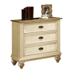 Riverside Furniture - Riverside Furniture Coventry Two Tone Night Stand in Dover White - Riverside Furniture - Nightstands - 32568 - Riverside's products are designed and constructed for use in the home and are generally not intended for rental, commercial, institutional or other applications not considered to be household usage.