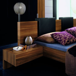 Rossetto - Gap Walnut Nightstands by Rossetto USA - Features: