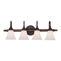 Savoy House Lighting - Savoy House Lighting 8-1062-4-13 Brunswick Bath Arts & Crafts / Craftsman / Miss - For a variety of bathroom spaces in English Bronze finish &#8212: GL779 glass sold separately.