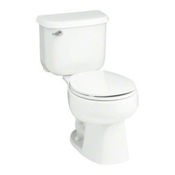 "STERLING PLUMBING - STERLING Windham(TM) 12"" Rough-in Round-Front Toilet with Pro Force(R) Technolog - Windham toilets are engineered to deliver exceptional performance and designed for functionality and style. Vitreous china construction and a water-saving flush means dependable performance with lasting value."