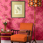 Berry Romantic Stencil - This allover pattern flower stencil from Royal Design Studio looks berry romantic stenciled on walls in soft subtle tints or hip and exciting painted in brighter contrast colors.