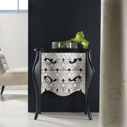 Hooker Furniture - Hooker Furniture Melange Black and White Accent Chest 638-50093 - Come closer to Melange, and you will discover something unexpected, an eclectic blending of colors, textures and materials in a vibrant collection of one-of-a-kind artistic pieces.