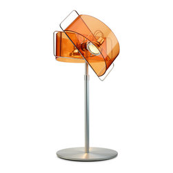 Pablo Designs - Gloss Table Lamp in Orange - Features: