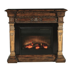 Ambella Home - New Ambella Home Electric Fireplace Two-Tone - Product Details