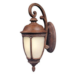Maxim - Maxim Knob Hill EE One Light Sienna Snow Flake Glass Wall Lantern - This One Light Wall Lantern is part of the Knob Hill Ee Collection and has a Sienna Finish and Snow Flake Glass. It is Wet Rated, Outdoor Capable, and Energy Star Compliant.