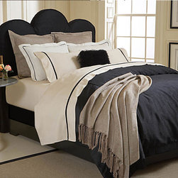 Gatsby Duvet / Bedding Set - - Poly Silk Shantung Duvet Cover with Ivory Sateen Fold back