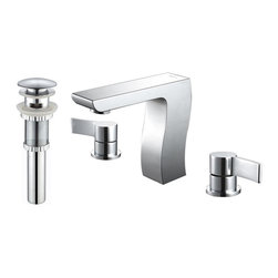 Kraus - Kraus KEF-14603-PU11CH Sonus Three-hole Basin Faucet - At Kraus, we use various elements of design to impress and make a statement in order to turn your private space into a truly unique one