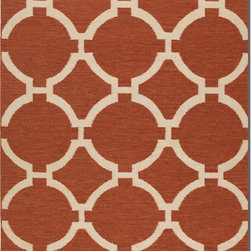 Natural Fiber Rugs & Carpets - Classic geometric wool dhurrie offered in a variety of colors.  Available in 5 x 8, 8 x 10, 9 x 12.  Purchase online and enjoy free shipping.