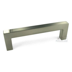"""Top Knobs - Asbury Collection - 3 3/4"""" Square European Bar Pull In Brushed Satin -"""