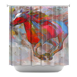 DiaNoche Designs - Shower Curtain Artistic - Smooth Runner I - DiaNoche Designs works with artists from around the world to bring unique, artistic products to decorate all aspects of your home.  Our designer Shower Curtains will be the talk of every guest to visit your bathroom!  Our Shower Curtains have Sewn reinforced holes for curtain rings, Shower Curtain Rings Not Included.  Dye Sublimation printing adheres the ink to the material for long life and durability. Machine Wash upon arrival for maximum softness. Made in USA.  Shower Curtain Rings Not Included.