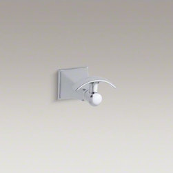 KOHLER - KOHLER Memoirs(R) Stately robe hook - With rich detailing and crisp lines, the Memoirs Collection with Stately design offers refined elegance reminiscent of classical architecture. This convenient robe hook provides a stylish finishing touch for your bathroom.