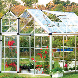 Snap N' Grow Greenhouse 6' x 8' - Snap N' Grow Greenhouse 6' x 8'  This easy to use greenhouse offers plenty of room and light (over 90% transmission) for your plants. The smart, efficient structure uses crystal-clear polycarbonate greenhouse panels. With a split-style door and large adjustable vent window. Easy to assemble; low maintenance.