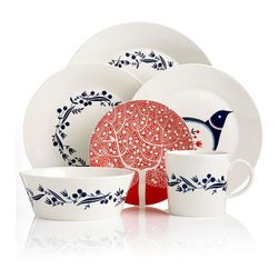 Royal Doulton Dinnerware, Fable Garland Collection - Mix and match this Scandinavian dinnerware. Nature patterns are a welcome change from more typical kitchen styles.