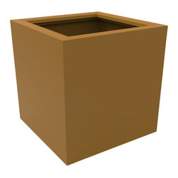 Decorpro - Large Athens Planter, Spanish Gold - The Athens planter is versatile in that it can be used in a variety of settings. From modern houses to traditional spaces, the simple shape of this planter ensures that it will always look good.
