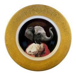 Beat Up Creations - Nathalie of France, Duchess of Nantes - Altered Vintage Plate - For Decorative Purposes