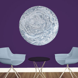 My Wonderful Walls - Celestial Moon Wall Decal - Astronomy Art by Elise Mahan, Large - - Product:   full moon wall sticker