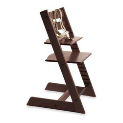 Stokke - STOKKE Tripp Trapp Highchair in Walnut - Dare to resist the traditional, molded plastic and vinyl high chair without sacrificing safety. The Stokke Tripp Trapp's innovative design brings baby closer to the table to interact more directly with the family.
