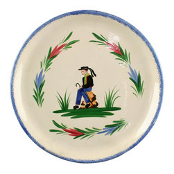 EuroLux Home - French Consigned Vintage Plate 1970 Quimper Brittany - Product Details