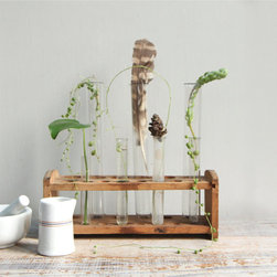 Vintage Test Tube Display by Ethan Ollie - I absolutely love to bring greenery into my bedroom, but cut flowers can be pricey. I love the whimsical nature of this vintage test tube set and the fact that I can bring in little (and free) snips of plants from around my house.