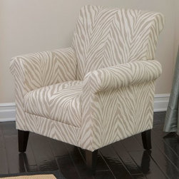 Bigalow Zebra Fabric Club Chair - Beige - You don't have to travel to Africa grasslands to experience a little zebra in your life - you can get a taste of their eclectic stripes with the Bigalow Zebra Fabric Club Chair - Beige. Made with cushy fabric that covers a durable wood frame, this contemporary styled club chair is subtle yet bold, and will be an excellent addition to all sorts of living room decor.About Best Selling Home Decor Furniture LLCBest Selling Home Decor Furniture LLC is a US-based company dedicated to providing you with a wide variety of fine furniture. With sales and manufacturing offices in Europe and China, as well as the ability to ship to anywhere in the world, no one is excluded from bringing these lovely pieces home. From outdoor to indoor furniture, children's furniture to ottomans and home accessories, all your needs will be met with attractive, high quality products that will last.