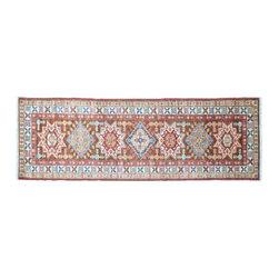 1800GetARug - Super Kazak Runner Hand Knotted Rug Chocolate Brown Sh11127 - About Tribal & Geometric