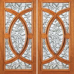"""Front Double Door Mahogany Radius Lite, Insulated Tempered Glass - SKU#695-A-2BrandAAWDoor TypeExteriorManufacturer CollectionUnique Entry DoorsDoor ModelDoor MaterialWoodWoodgrainMahoganyVeneerPrice3080Door Size Options2(30"""") x 80"""" (5'-0"""" x 6'-8"""")  $02(36"""") x 80"""" (6'-0"""" x 6'-8"""")  $02(36"""") x 96"""" (6'-0"""" x 8'-0"""")  +$840Core TypeSolidDoor StyleCircle , ModernDoor Lite StyleRadius LiteDoor Panel StyleRaised MouldingHome Style MatchingColonial , Plantation , VictorianDoor ConstructionEngineered Stiles and RailsPrehanging OptionsPrehung , SlabPrehung ConfigurationDouble DoorDoor Thickness (Inches)1.75Glass Thickness (Inches)3/4Glass TypeTriple GlazedGlass CamingBlackGlass FeaturesInsulated , TemperedGlass StyleGlass TextureGlue ChipGlass ObscurityModerate ObscurityDoor FeaturesDoor ApprovalsFSCDoor FinishesDoor AccessoriesWeight (lbs)680Crating Size25"""" (w)x 108"""" (l)x 52"""" (h)Lead TimeSlab Doors: 7 daysPrehung:14 daysPrefinished, PreHung:21 daysWarranty1 Year Limited Manufacturer WarrantyHere you can download warranty PDF document."""
