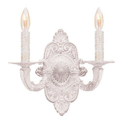 Crystorama - Crystorama 5122-AW Paris Flea Market Wall Sconce - Paris Flea Market offers casual yet elegant, whimsical and chic chandeliers, wall sconces, and ceiling mounts.