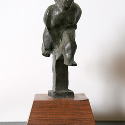 Chaim Gross, Running Figure, Bronze Sculpture, - Artist:  Chaim Gross, Austrian (1904 - 1991)