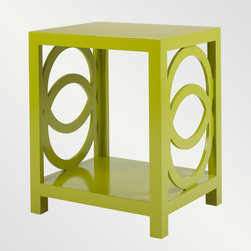 Oslo Side Table - This vibrant table's geometry can go contemporary or regency, industrial or eclectic.